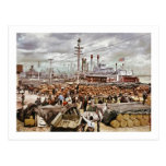 Levee at Canal Street New Orleans 1900 Post Cards