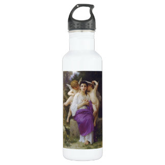 Leveil Heart by William-Adolphe Bouguereau 710 Ml Water Bottle