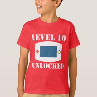 Level 10 Unlocked Video Games 10th Birthday T-Shirt