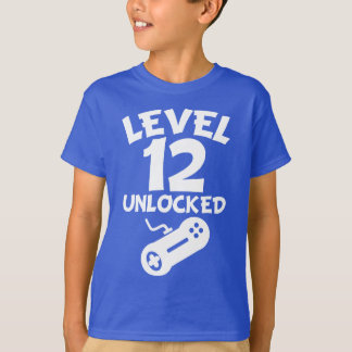Level 12 Unlocked Video Games 12th Birthday T-Shirt