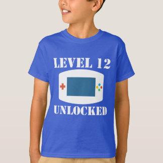 Level 12 Unlocked Video Games 12th Birthday T-Shirt