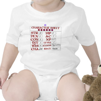 Level 1 Human Baby RPG Character Sheet Rompers