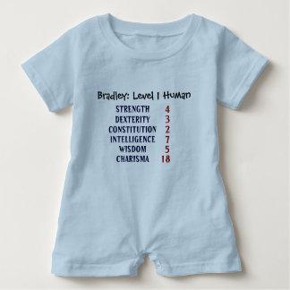 Level 1 Human Personalized Baby Bodysuit