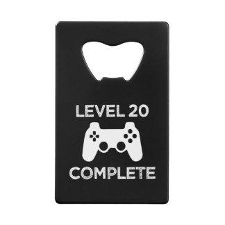 Level 20 Complete, Funny 21st Birthday beer opener