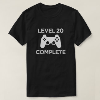 Level 20 Complete, Funny 21st Birthday Mens Shirt