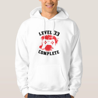 Level 33 Complete 33rd Birthday Hoodie