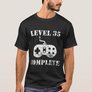 Level 35 Complete 35th Birthday T-Shirt