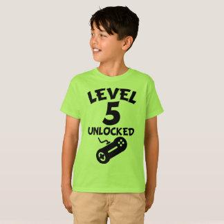 Level 5 Unlocked Video Games 5th Birthday T-Shirt