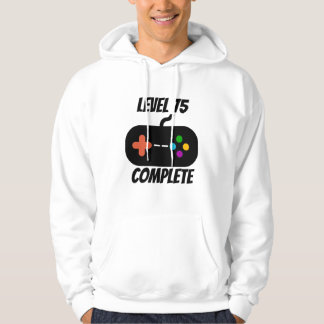 Level 75 Complete 75th Birthday Hoodie