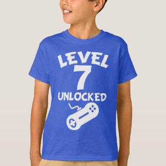 Level 7 Unlocked Video Games 7th Birthday T-Shirt
