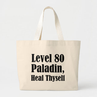 Level 80 Paladin, Heal Thyself Tote Bags