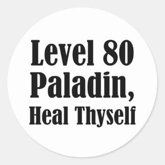 Level 80 Paladin, Heal Thyself Sticker