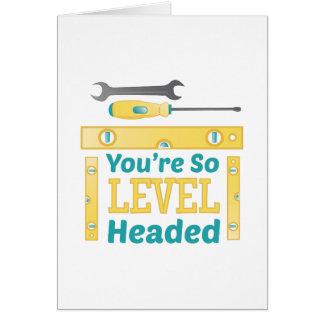 Level Headed Card