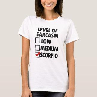 Level of Sarcasm funny Scorpio womens shirt