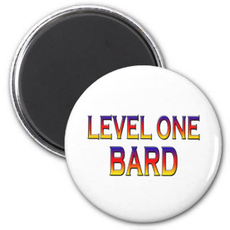 Level one bard 6 cm round magnet