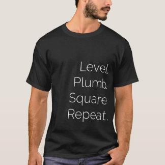 Level Plumb Square BASIC Carpentry T-Shirt (Black)
