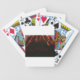 level volcanic cone bicycle playing cards