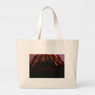 level volcanic cone large tote bag
