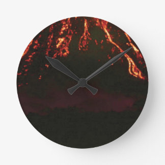 level volcanic cone round clock