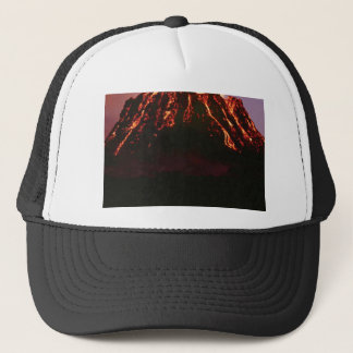 level volcanic cone trucker hat