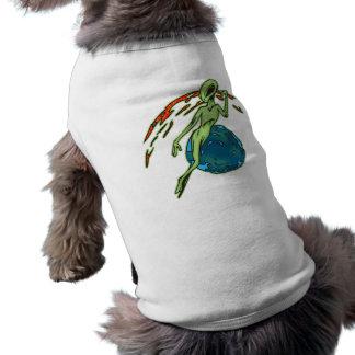 Levitating Alien Sleeveless Dog Shirt