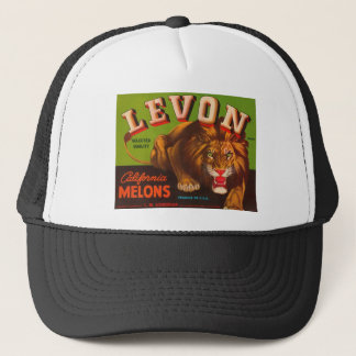Levon California Melons Crate Label Trucker Hat