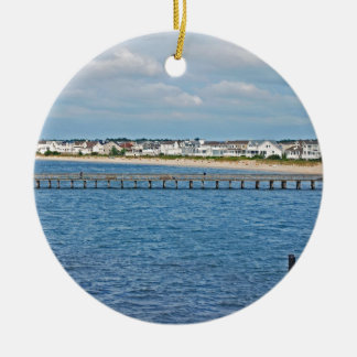 """""""Lewes Harbor from ferry"""" collection Ceramic Ornament"""