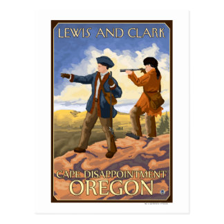 Lewis and Clark - Cape Disappointment, Oregon Postcard