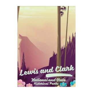 Lewis and Clark National and state park poster Acrylic Wall Art
