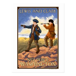 Lewis and Clark - Nez Perce, Washington Postcard