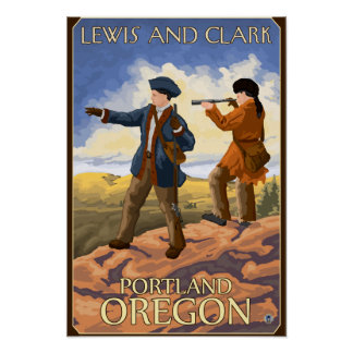 Lewis and Clark - Portland, Oregon Poster