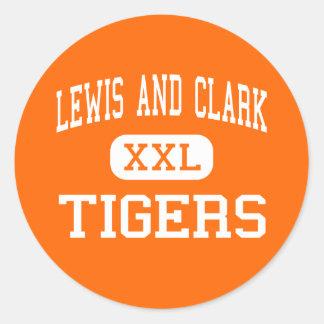 Lewis And Clark - Tigers - High - Spokane Round Sticker