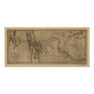 Lewis and Clark Track Map Poster