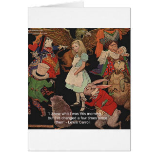 Lewis Carroll Illustration Mind Change Quote Card