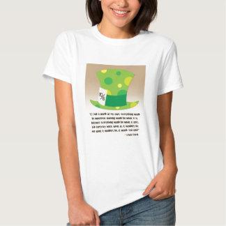 Lewis Carroll Mad Hatter Alice in Wonderland Shirt