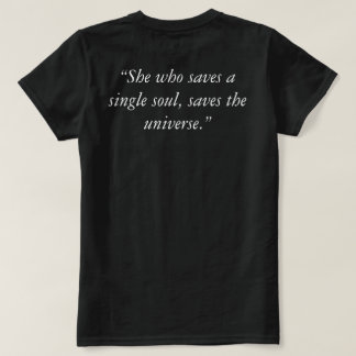 """Lewis Carroll Quote Basic Women's """"Rescue"""" TShirt"""