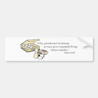 Lewis Carroll Quote Bumper Sticker