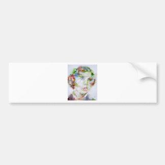 LEWIS CARROLL - watercolor portrait.1 Bumper Sticker