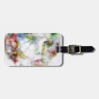 LEWIS CARROLL - watercolor portrait.1 Luggage Tag