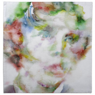 LEWIS CARROLL - watercolor portrait.1 Napkin