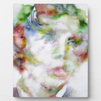 LEWIS CARROLL - watercolor portrait.1 Plaque
