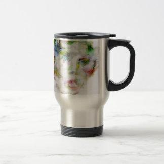LEWIS CARROLL - watercolor portrait.1 Travel Mug