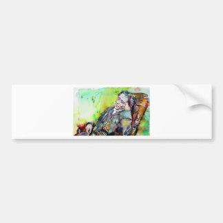 LEWIS CARROLL - watercolor portrait.2 Bumper Sticker