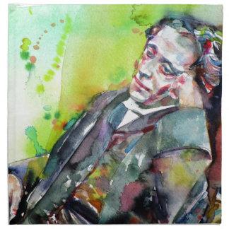 LEWIS CARROLL - watercolor portrait.2 Napkin