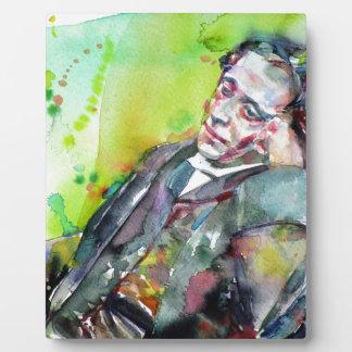 LEWIS CARROLL - watercolor portrait.2 Plaque
