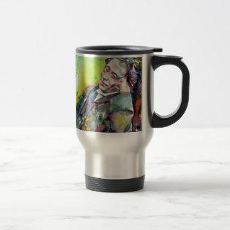 LEWIS CARROLL - watercolor portrait.2 Travel Mug