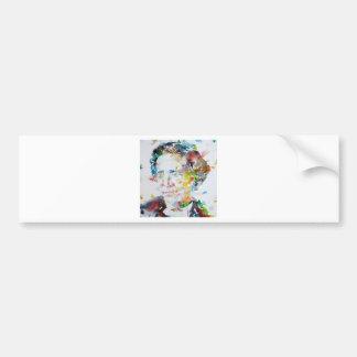 LEWIS CARROLL - watercolor portrait.3 Bumper Sticker