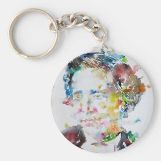 LEWIS CARROLL - watercolor portrait.3 Key Ring