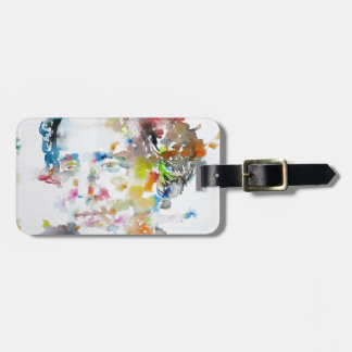 LEWIS CARROLL - watercolor portrait.3 Luggage Tag