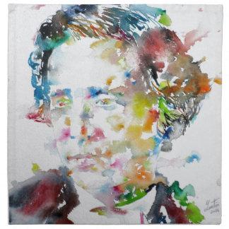 LEWIS CARROLL - watercolor portrait.3 Napkin